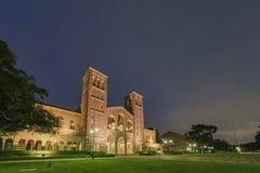 Opinión exterior de la noche Royce Hall foto de archivo libre de regalías