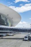 Opinión exterior del aeropuerto de Montevideo Foto de archivo