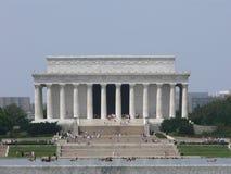 Opinión exterior del monumento de Lincoln Foto de archivo