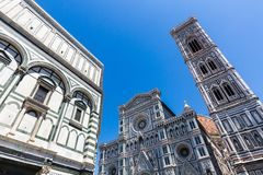 Opinión exterior Florence Cathedral en Italia Fotos de archivo