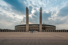 Opinión exterior Olympia Stadium de Berlín, Berlín Imagenes de archivo