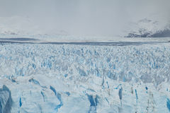 Opinión frontal el Perito Moreno Glacier fotos de archivo libres de regalías