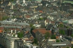 Opinión general de Düsseldorf Imágenes de archivo libres de regalías