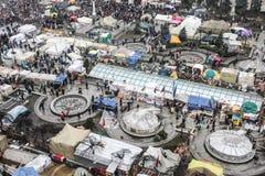 Opinión general de Maidan Fotografía de archivo libre de regalías