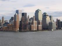Opinión general de New York City Manhattan Imagen de archivo libre de regalías