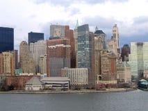 Opinión general de New York City Manhattan Imágenes de archivo libres de regalías