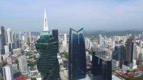 Opinión general de Panamá de la ciudad almacen de video