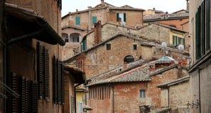 Opinión general de Siena de la arquitectura Fotografía de archivo
