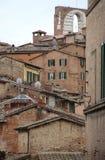 Opinión general de Siena de la arquitectura Fotos de archivo libres de regalías