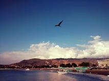 Opinión general Puerto López en Manabi, Ecuador Imagen de archivo libre de regalías