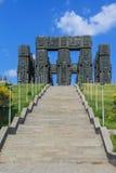 Opinión georgiana de la historia del monumento con la escalera Fotos de archivo