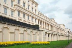 Opinión granangular Carlton House Terrace que está situado en la alameda en Londres, 2018 Imagen de archivo libre de regalías