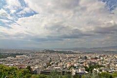 Opinión granangular de Atenas Imagen de archivo