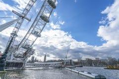 Opinión granangular del ojo de Londres Imagen de archivo libre de regalías
