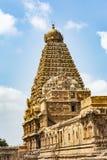 Opinión grande del templo - templo grande de Thanjavur imagen de archivo