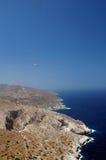 Opinión griega de la isla Fotografía de archivo libre de regalías