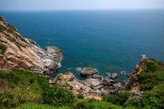 Opinión Hai Ting del barranco de Lingshui de la isla del límite Imágenes de archivo libres de regalías