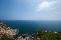 Opinión Hai Ting del barranco de Lingshui de la isla del límite Fotografía de archivo