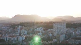 Opinión hermosa de la aleación de aluminio de la tarde Alicante metrajes