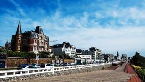 Opinión hermosa de la calle de la ciudad Le Havre Fotografía de archivo libre de regalías