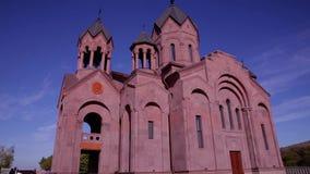 Opinión hermosa de la catedral del exterior metrajes