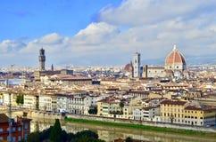 Opinión hermosa de la ciudad de Florencia, Italia Foto de archivo libre de regalías