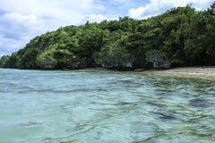 Opinión hermosa de la playa Fotografía de archivo libre de regalías