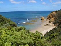 Opinión hermosa de la playa Imagenes de archivo