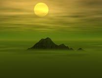 Opinión hermosa de la puesta del sol Fotografía de archivo