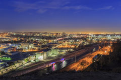 Opinión hermosa de la puesta del sol del río de Los Ángeles Fotografía de archivo libre de regalías