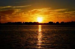 Opinión hermosa de la puesta del sol en Australia occidental foto de archivo