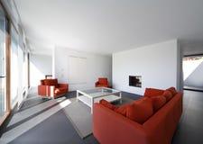 Opinión hermosa de la sala de estar imagen de archivo