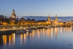 Opinión hermosa de la tarde de Dresden imágenes de archivo libres de regalías