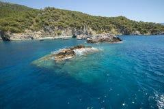 Opinión hermosa del agua, Turquía Imagen de archivo