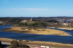 Opinión hermosa del delta Bohus Fortress Fotografía de archivo