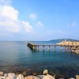 opinión hermosa del mar Foto de archivo libre de regalías