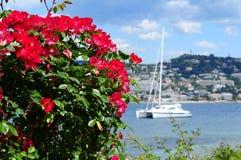 Opinión hermosa del mar en Cannes Foto de archivo libre de regalías
