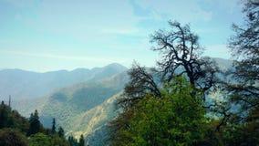 Opinión hermosa del paisaje de colinas y de valles Imagenes de archivo