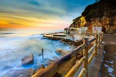 Opinión hermosa del paisaje marino de la salida del sol Imagen de archivo libre de regalías