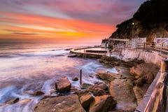 Opinión hermosa del paisaje marino de la salida del sol Imagenes de archivo