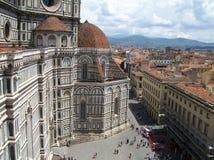 Opinión hermosa Italia de la ciudad de Florencia imagenes de archivo