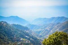 Opinión Himachal Pradesh de las colinas de Dagshai foto de archivo libre de regalías