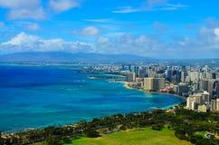 Opinión Honolulu de la ciudad Fotografía de archivo