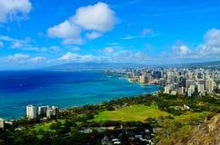 Opinión Honolulu de la ciudad Fotografía de archivo libre de regalías