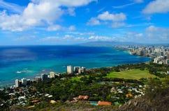 Opinión Honolulu de la ciudad Imagen de archivo libre de regalías