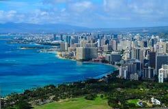 Opinión Honolulu de la ciudad Imagenes de archivo