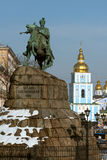 Opinión icónica de Kiev Fotos de archivo