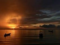Opinión impresionante de la puesta del sol Fotografía de archivo libre de regalías