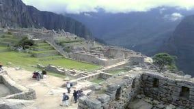 Opinión Inca City antiguo de Machu Picchu El sitio del siglo XV del inca 'Perdió la ciudad de los incas' metrajes