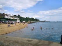 Opinión inglesa de la playa imágenes de archivo libres de regalías